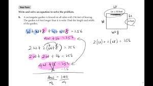 algebra basics creating and solving equations involving the distributive property