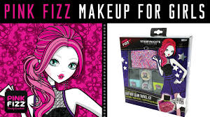 pink fizz makeup for girls glittery glam travel kit nail polish