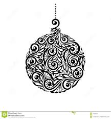 black and white ball ornaments clipart