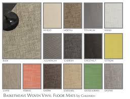 basketweave woven vinyl floor mats