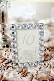 silver frames for wedding table numbers invitations more photos crystal framed table number inside