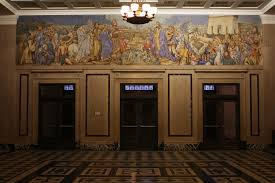 inside the masonic temple which is on the market for 6 million jessie housley holliman s fresco detailing the history of the masons