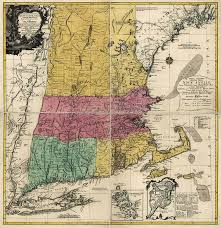 New England Map by Antique Map Of New England By Johann Michael Probst 1777 Drawing