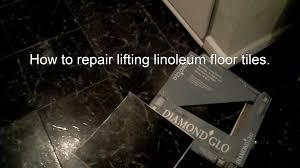 Floor Tile Repair How To Reseal And Repair Linoleum Floor Tiles Old Time Home