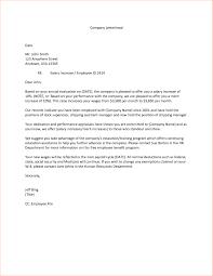 Letter Template Business Salary Adjustment Letter Sample Newsletter Template Free Word