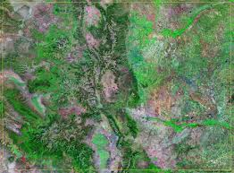 Map Of Colorado Cities by Colorado Satellite Images Landsat Color Image