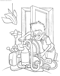 high quality printable meet the robinsons cartoon coloring pages