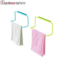 kitchen cabinet sponge holder balleenshiny plastic towel rack kitchen cupboard hanging wash cloth