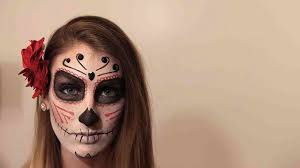 video diy sugar skull makeup for halloween martha stewart