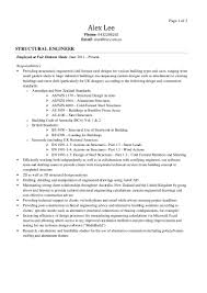 structural engineer resume template examples