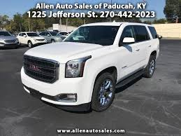 gmc yukon white 2017 buy here pay here cars for sale paducah ky 42001 allen auto sales