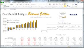 Cost Benefit Analysis Template Excel Cost Benefit Analysis