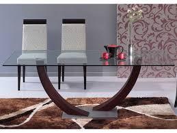 table de cuisine en verre trempé table à manger verre trempé mobilier large choix pas cher