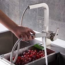 new chrome pull out kitchen faucet square brass kitchen mixer sink contemporary single handle square pull out brass kitchen faucet in
