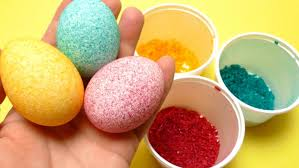 Big Easter Eggs Decorations by Easter Egg Coloring Decorating With Rice Diy Shake It Video