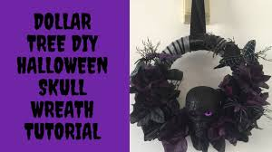 Halloween Wreath Tutorial by Dollar Tree Diy Halloween Skull Wreath Tutorial 2016 Youtube