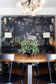 Dark Dining Room Home Tour A Youthful Whimsical L A Home Deer Print Pattern