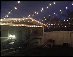 g40 string lights 25ft g40 globe string lights with clear bulbs ul listed backyard