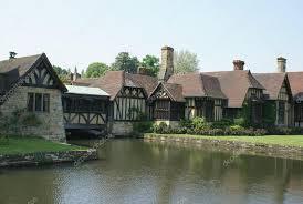 moated tudor architecture hever castle garden kent england