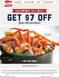 coupons for joe s crab shack pinned august 2nd 7 25 at joes crab shack restaurants