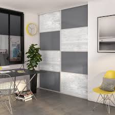 porte placard cuisine leroy merlin porte de placard coulissante à composer décor béton gris foncé