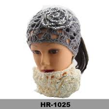 winter headbands fashion knitted headband bow crochet headband thin hair band