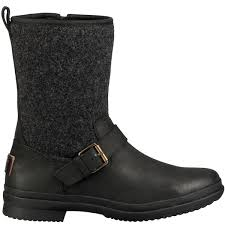 Ugg 1017377 Robbie Black Waterproof Leather And Textile Women U0027s