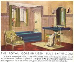 Vintage Bathroom Design Vintage Blue Bathroom Colors From Seven Manufacturers From 1927 To