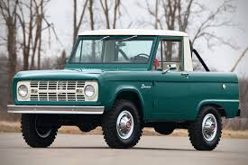 auction block 1967 ford bronco half cab hiconsumption