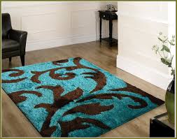 Modern Rugs Canada Shining Turquoise And Brown Area Rugs Ravishing Echo