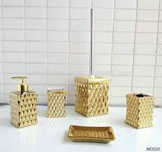 attractive gold bathroom accessories sets bath accessory sets