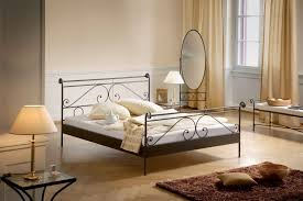 bedroom wrought iron bed metal double bed frame steel bed single