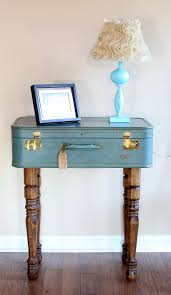Wood Furniture Paint Colors Vintage Look Suitcase Nightstand Table Painted With Blue Chalk