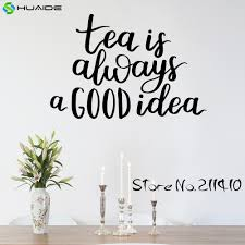online get cheap kitchen wall decoration ideas aliexpress com tea is always a good idea wall decal sticker for kitchen room tile wall art decor
