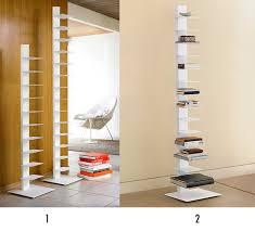 Spine Bookshelf Ikea Vertical Bookshelf The Look For Less Original Bruno Rainaldi