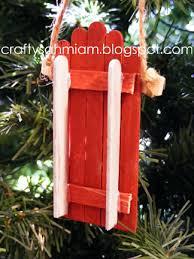 crafty sahm i am popsicle stick sled ornament