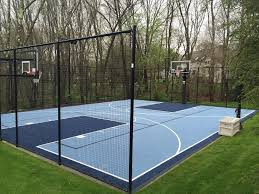 Backyard Basketball Court Backyard Basketball Court Landscape Traditional With Storage Case