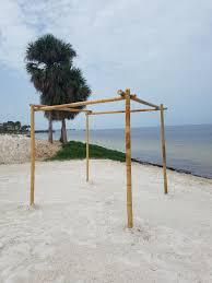 bamboo chuppah arbors arches florida coast weddings and rentals