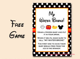minnie mouse baby shower favors free mickey mouse baby shower instant my water