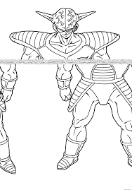 dragon ball z coloring pages print boys popular