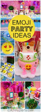 tween halloween party activities so many fun ideas at this emoji themed birthday party see