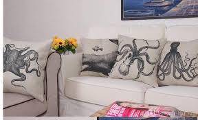 throw pillows decorative animal octopuses cushion covers retro