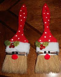 paint brush santa ornaments tutorial live healthy with patty