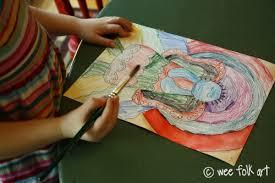 primitive angel coloring page wee folk art