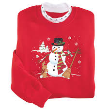 snowman sweatshirt country store casual collection