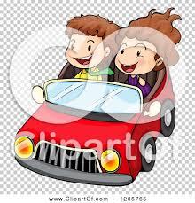 cartoon convertible car cartoon of a boy and in a convertible car royalty free vector