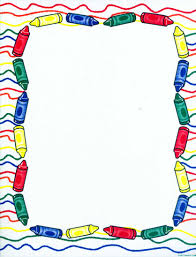 christmas border writing paper crayon clipart borders collection 8 x 10 crayon frame