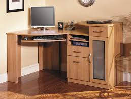 Wooden Computer Desk With Hutch by Furniture Sleek Wooden Computer Corner Desk With Hutch And