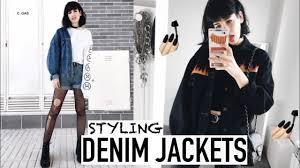 wear denim jackets grunge 90s inspired youtube