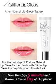lips tattoo amazon amazon com kurious natural lip gloss tattoo glitter lip gloss